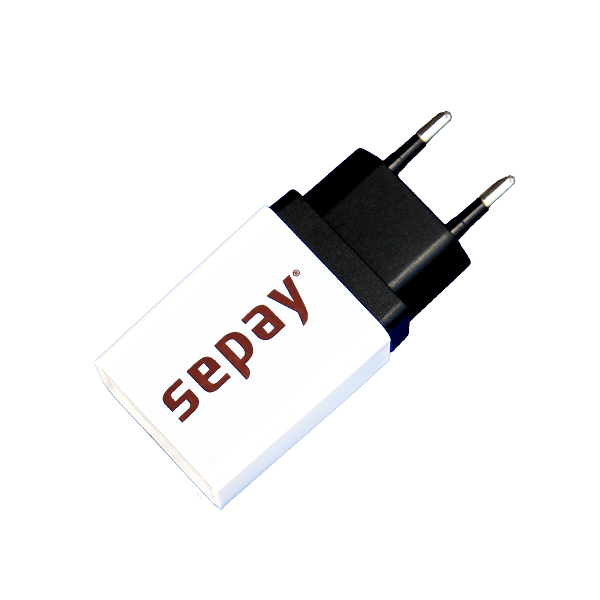 220V USB Adapter (wit) (excl. USB kabel)